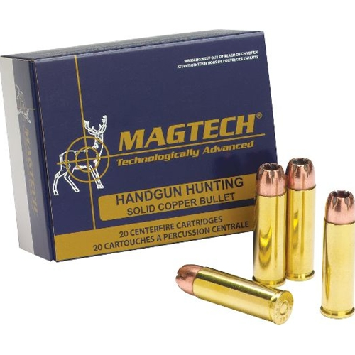 Magtech Hunting 454 Casull 225 Grain Solid Copper Hollow Point Lead Free