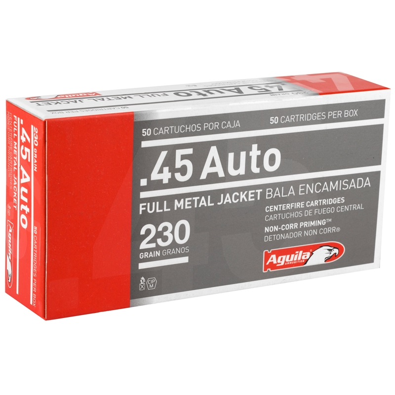 Aguila 45 ACP AUTO Ammo 230 Grain Full Metal Jacket