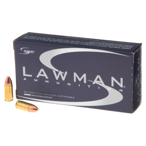 Speer Lawman 9mm Luger Ammo 100 Grain Frangible LF FMJ