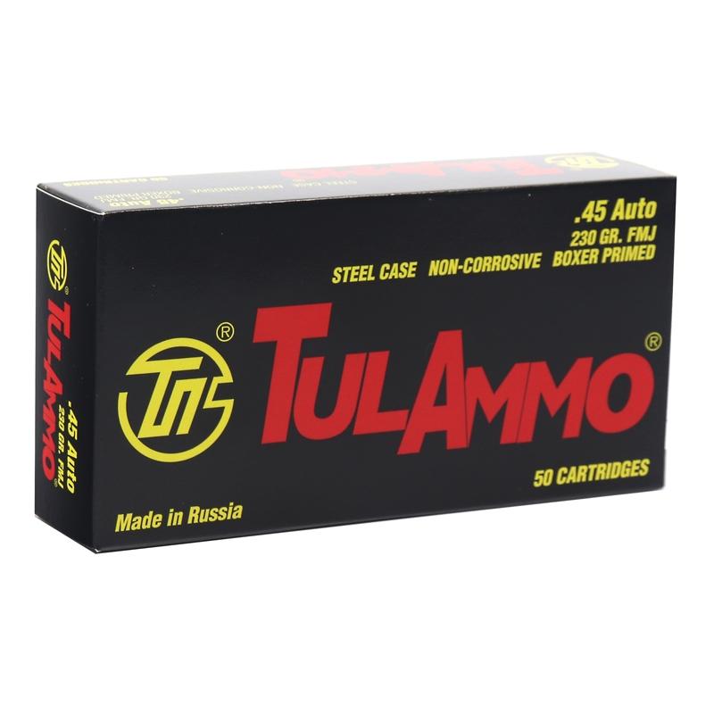 TulAmmo 45 ACP Auto Ammo 230 Grain FMJ Steel Case