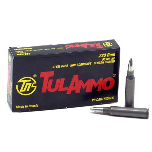 Tula Ammo 223 Remington 55 Grain Hollow Point Ammunition