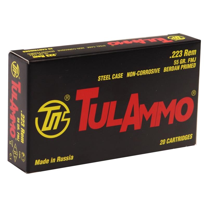TulAmmo 223 Remington 55 Grain FMJ Steel Case 1000 Rounds