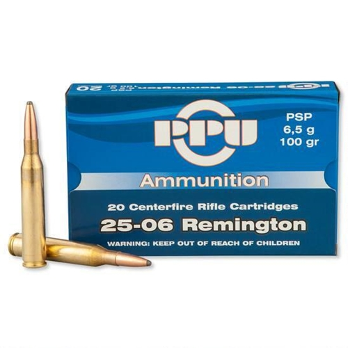 Prvi Partizan 25-06 Remington Ammo 100 Grain PSP