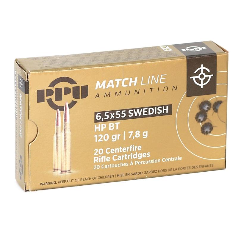 Prvi Partizan Match 6.5x55mm Swedish Mauser 120 Grain HPBT