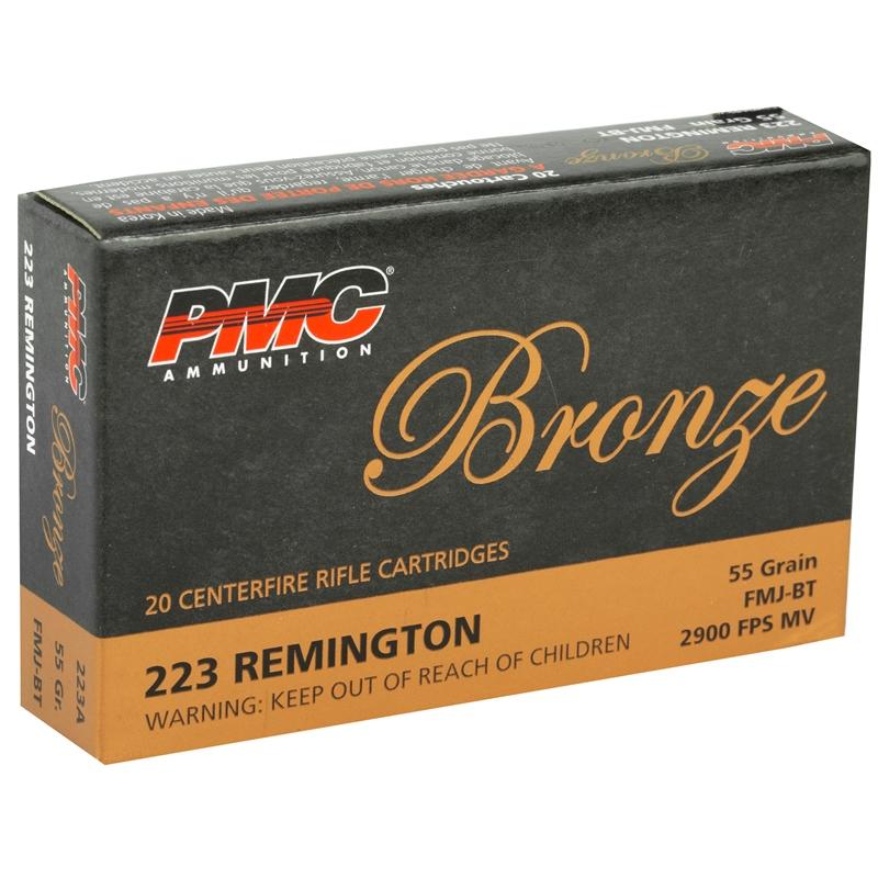 PMC Bronze 223 Remington Ammo 55 Grain FMJ