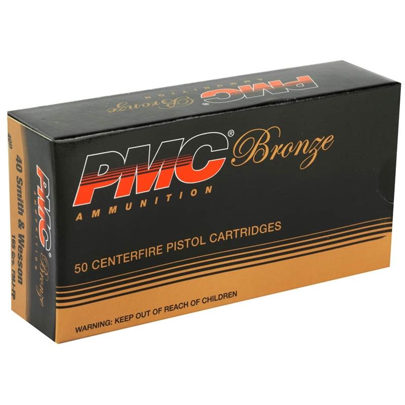 PMC Bronze 40 S&W Ammo 165 Grain FMJ