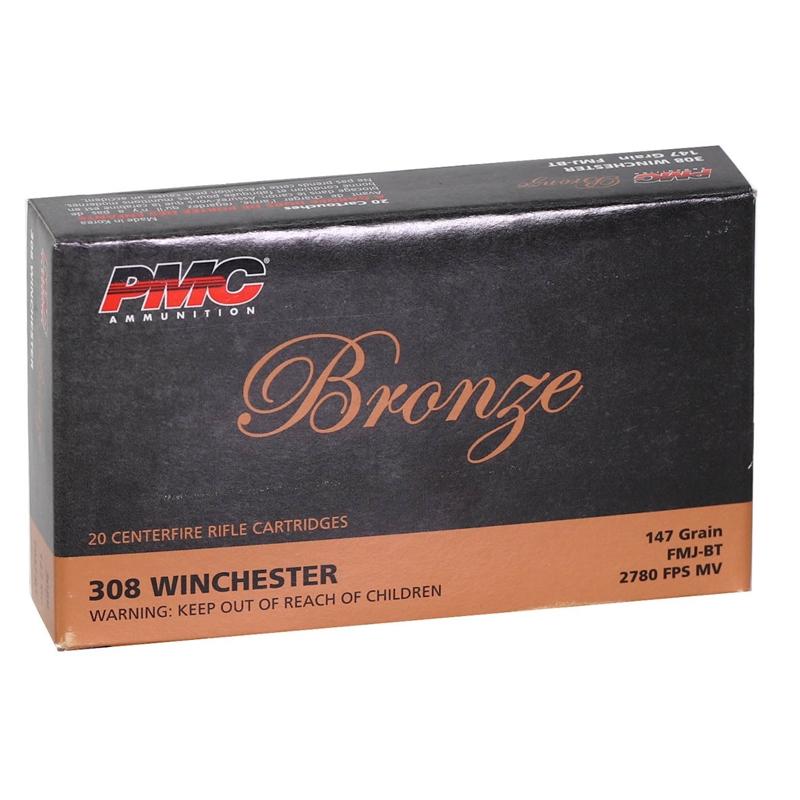 PMC Bronze 308 Winchester Ammo 147 Grain FMJ