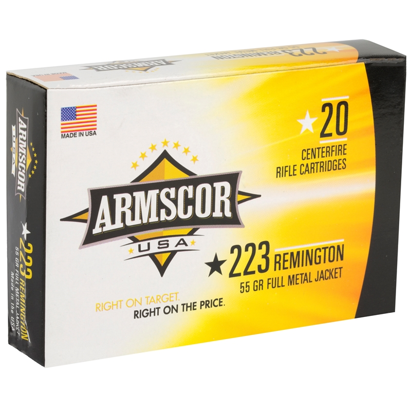 Armscor USA 223 Remington Ammo 55 Grain Full Metal Jacket