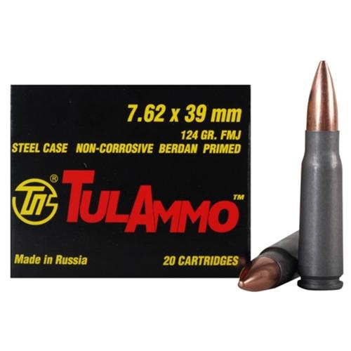 Tula Ammo 7.62x39mm Russian Ammo 124 Grain Full Metal Jacket
