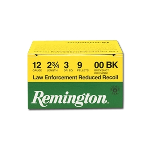 "Remington LE Reduced Recoil 12 Gauge 2-3/4"" 00 Buckshot"
