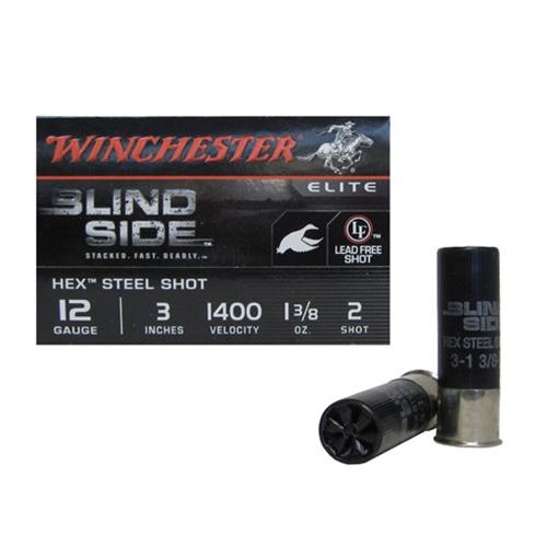 """Winchester Blind Side 12 Gauge 3"""" 1 3/8oz. #2 Shot NTSS"""