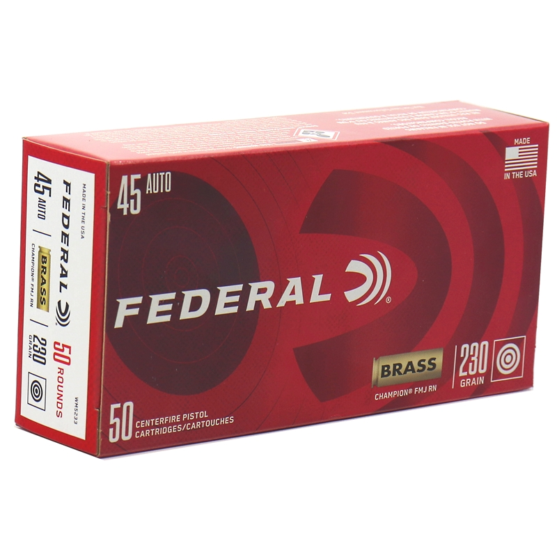 Federal Champion 45 ACP AUTO Ammo 230 Grain FMJ