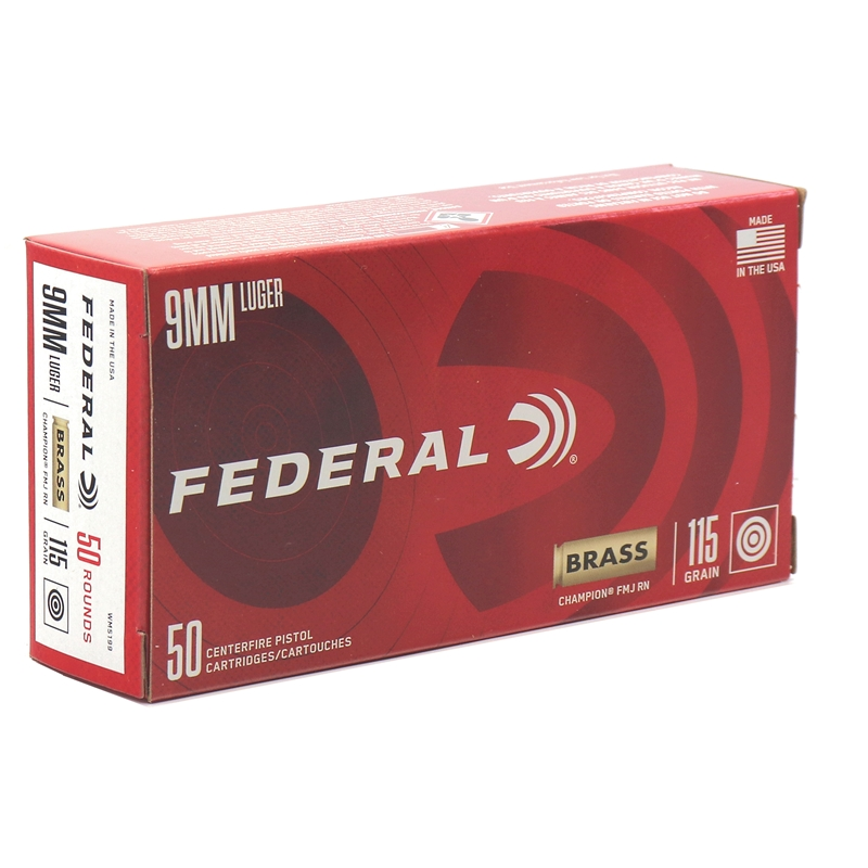 Federal Champion 9mm Luger 115 Grain FMJ
