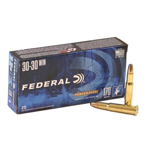 Federal Power-Shok 30-30 Winchester Ammo 170 Grain SPRN