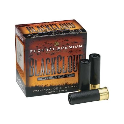 """Federal Black Cloud 12 Gauge 3 1/2"""" 1-1/2oz #4 Steel Shot Ammunition"""