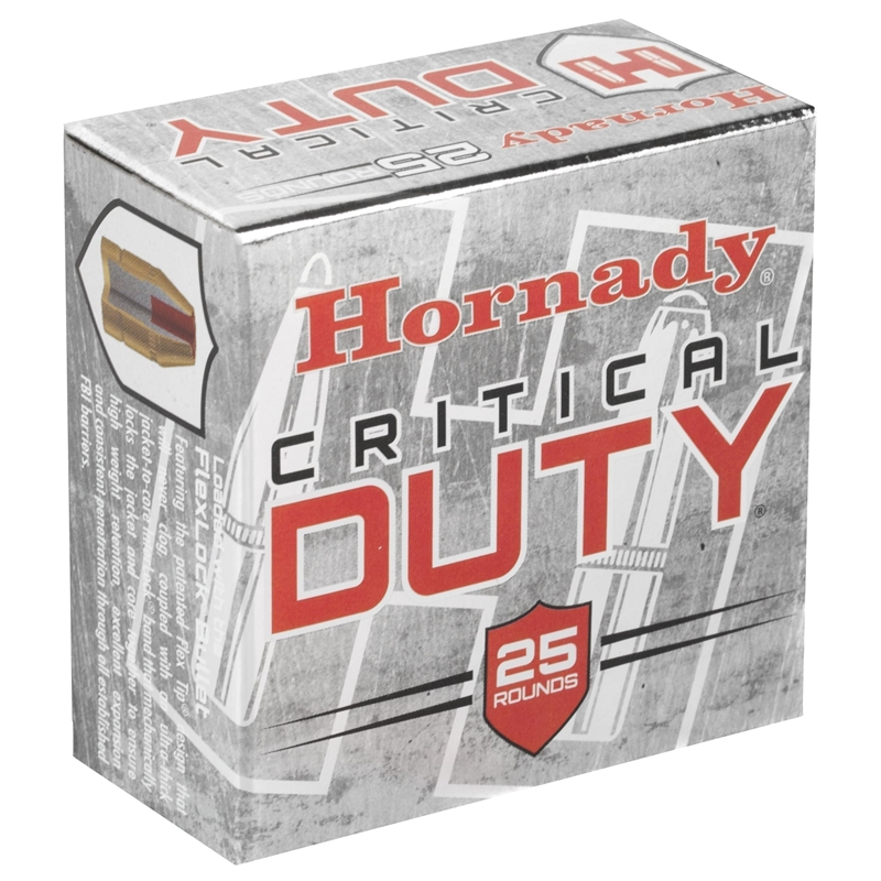 Hornady Critical Duty 9mm Luger Ammo 135 Grain FlexLock