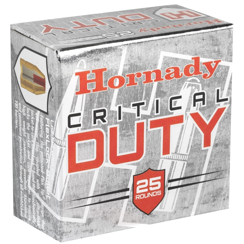 Hornady Critical Duty 9mm Luger Ammo +P 135 Grain FlexLock