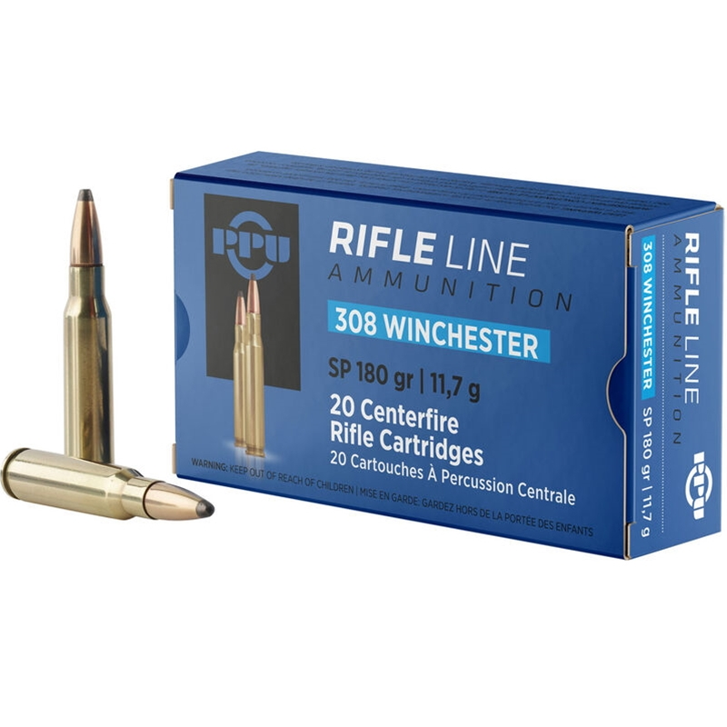 Prvi Partizan 308 Winchester Ammo 180 Grain PSP