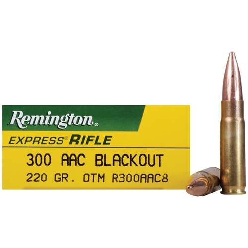 Remington Express 300 AAC Blackout Ammo 220 Gr Subsonic OTM