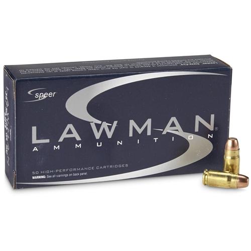 Speer Lawman CleanFire 357 SIG Ammo 125 Grain TMJ