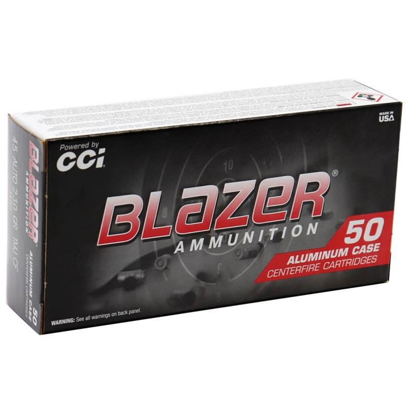 CCI Blazer CleanFire 45 ACP AUTO Ammo 230 Grain FMJ