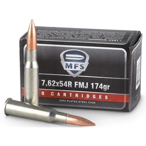 MFS 7.62x54R Ammo 174 Grain Full Metal Jacket