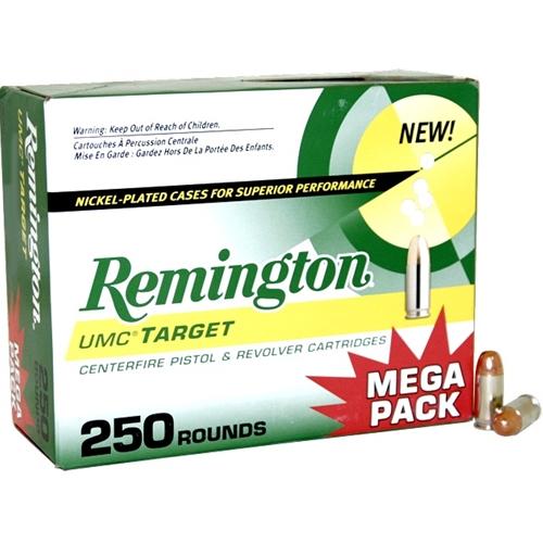 Remington UMC Nickel Plated 9mm Luger Ammo 115 Gr FMJ Mega Pack