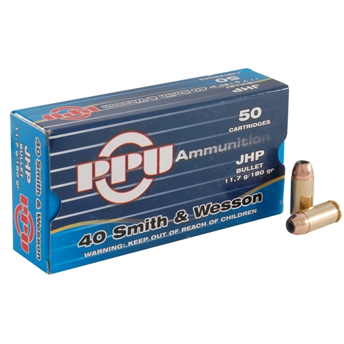 Prvi Partizan 40 S&W Ammo 180 Grain Jacketed Hollow Point