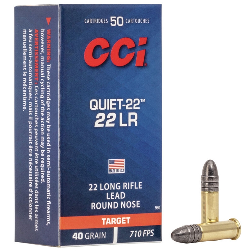 cci quiet 22 long rifle 40 grain lead round nose