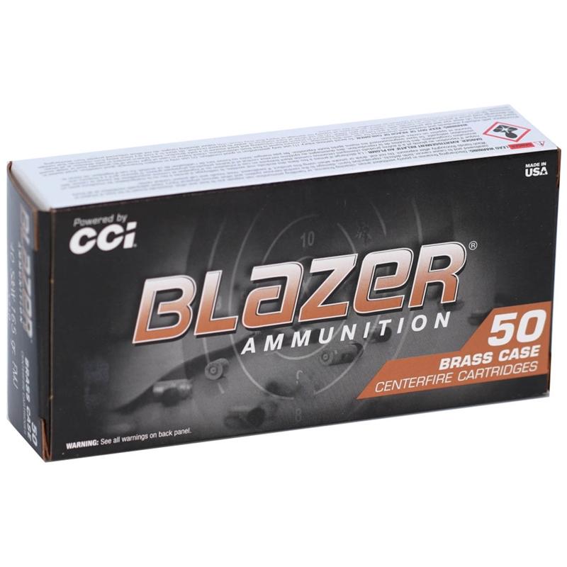 CCI Blazer Brass 40 S&W Ammo 165 Grain Full Metal Jacket
