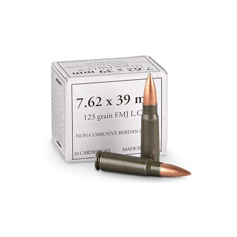 Wolf 7.62x39mm Ammo 123 Grain FMJ Steel Case