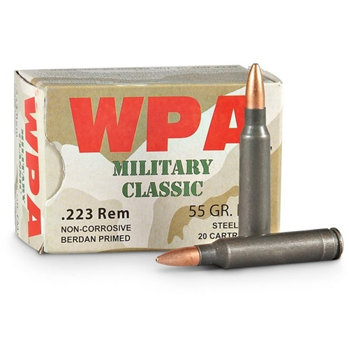 Wolf MC 223 Remington Ammo 55 Grain HP Steel Case