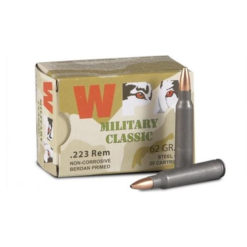 Wolf MC 223 Remington Ammo 62 Grain JSP Steel Case