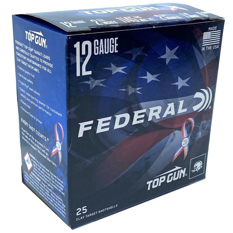 "Federal Top Gun WW 12 Ga Ammo 2 3/4"" 1 1/8oz #8 Shot 250 Rds"