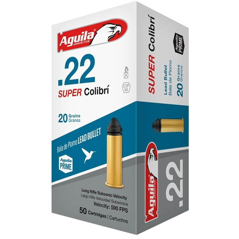 Aguila Super Colibri Ammo 22 Long Rifle 20 Grain LSP