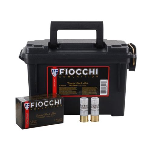 "Fiocchi 12 Gauge 2 3/4"" 00 Buckshot 9 Pellets 80 Rds in Ammo Can"