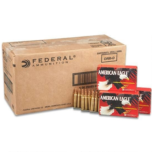 Federal American Eagle 223 Remington Ammo 55 Grain FMJ on Clips
