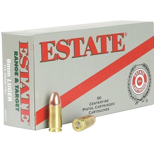 Federal Estate Range 9mm Luger Ammo 115 Grain FMJ