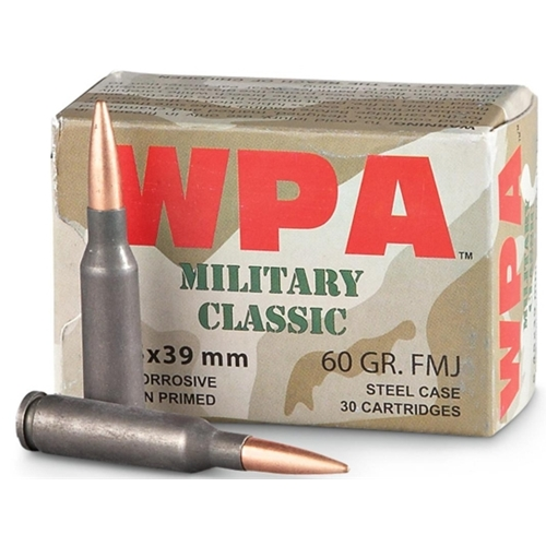 Wolf MC 5.45x39mm Ammo 60 Grain FMJ Steel Case