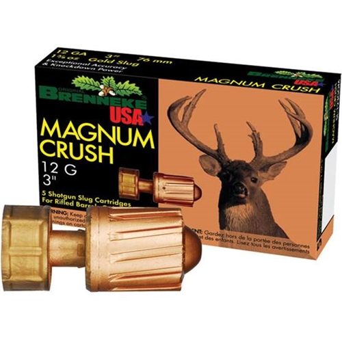"Brenneke USA Magnum Crush 12 Gauge Ammo 3"" 1 1/2oz. Rifled Slug"