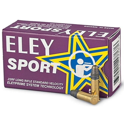 Eley Sport 22 Long Rifle Ammo 40 Grain Lead Round Nose