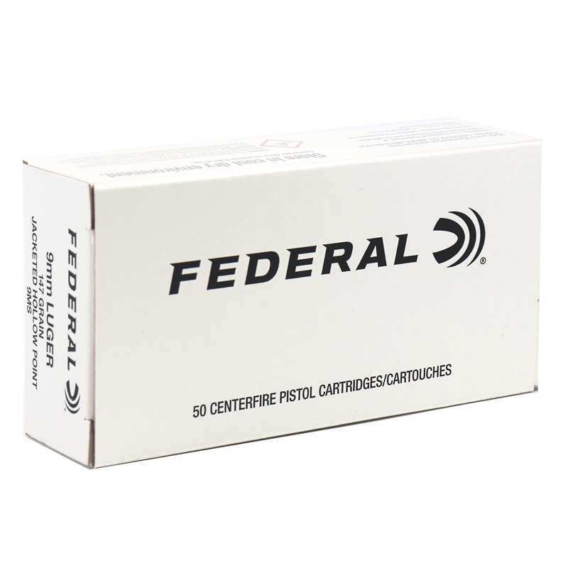 Federal Law Enforcement 9mm Luger Ammo 147 Grain Hi-Shok JHP