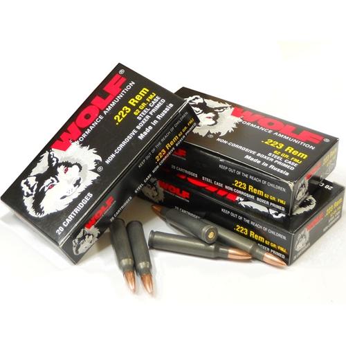 Wolf Polyformance 223 Rem Ammo 62 Gr FMJ Steel Case Bulk