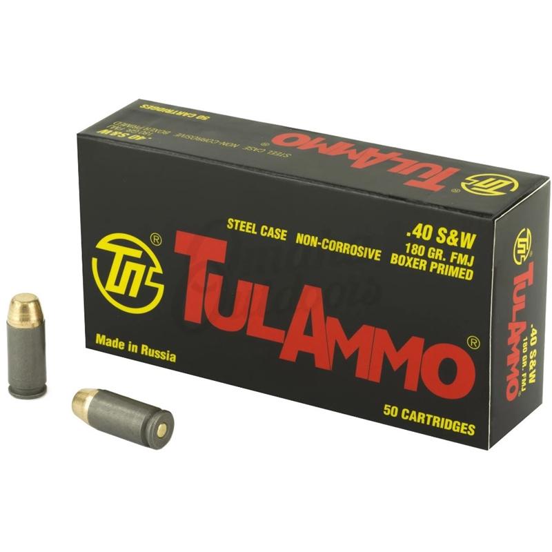 Tul Ammo 40 S&W 180 Grain FMJ Steel Case
