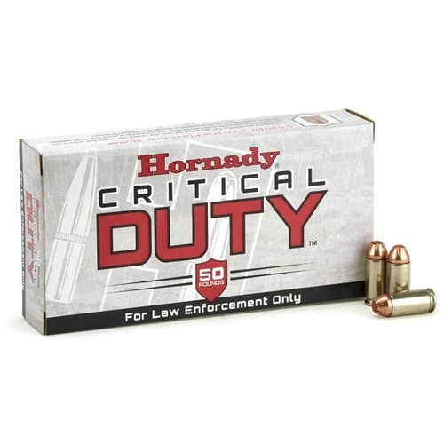 Hornady Critical Duty LE 40 S&W 175 Grain FlexLock