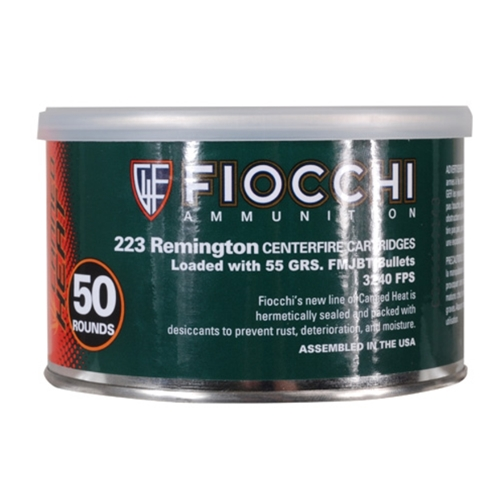 Fiocchi Canned Heat 223 Remington Ammo 55 Grain Full Metal Jacket