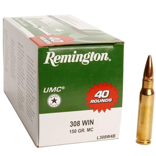 Remington UMC 308 Winchester Ammo 150 Grain FMJ Value Pack