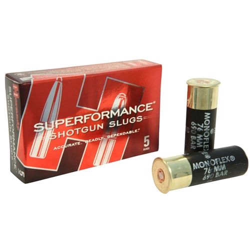 "Hornady Superformance 12 Ga Ammo 2-3/4"" 300 Gr MonoFlex Sabot"