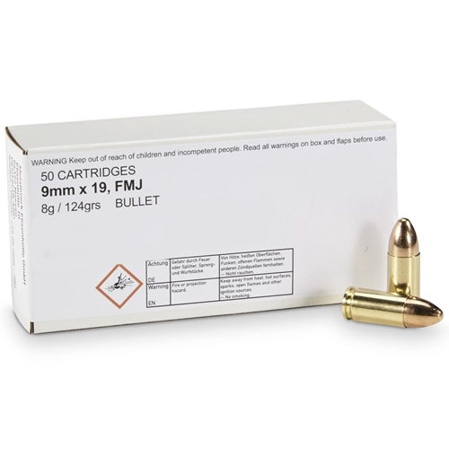 Geco 9mm Luger Ammo 124 Grain Full Metal Jacket