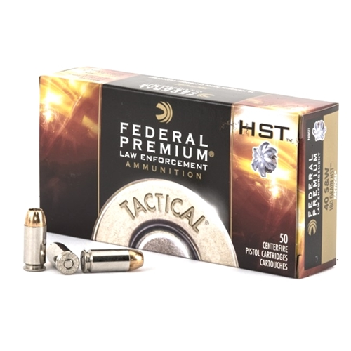 Federal Law Enforcement 40 S&W Ammo 155 Grain HST JHP